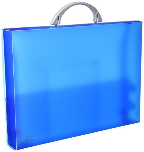 Grafoplás 30100530. Maletín Escolar de Polipropileno. Azul. Modelo ColorGraf. 345x245x40mm