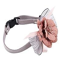 調節可能なストラップファッショナブルなソフトペット犬の蝶結び、犬の花の首の襟、犬の猫の子犬の弓の襟(No. 1 lotus root pink, M)