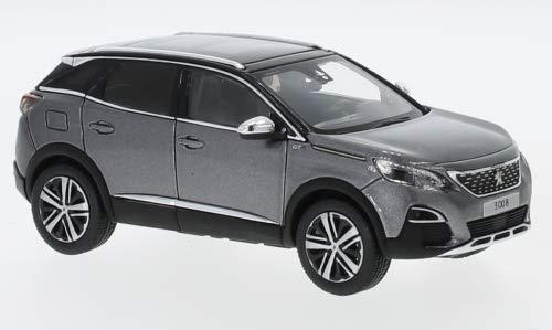 Peugeot 3008 GT, metallic-grau, 2016, Modellauto, Fertigmodell, Norev 1:43