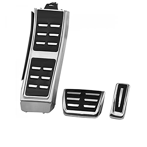 Hliybm para Audi A3 A4 B6 B7 B8 B9 A5 A6 C5 C6 C7 C8 A7 Q2 Q5 Q7 Acelerador Freno reposapiés Pedal Almohadilla Placa Productos de Coche Accesorios de Coche