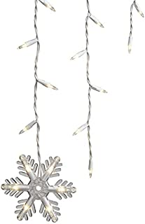 150 Count Clear Icicle Style Lights with 7 Dangling Snowflakes