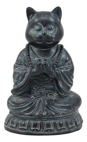 Ebros Buddha Cat Statue In Meditating Cat Figurine Pose For Zen Cat Memorial Or Spiritual Decor