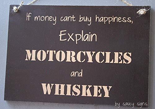 Ced454sy - Cartello Moto Explain Motorcycles Whiskey Money Cant Buy You Happiness Biker Harley Davidson ECC