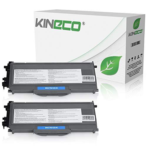 Kineco 2 Toner kompatibel für Brother TN-2120 TN2120 für Brother HL-2140, HL-2150N, HL-2170W, DCP-7030, DCP-7040, DCP-7045N - Schwarz je 2.600 Seiten
