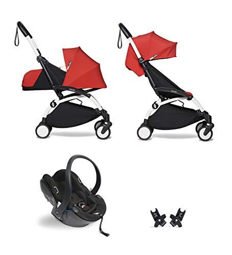 mächtig der welt Kinderwagen Babyzen YOYO² Komplettset 0+ und 6+ Rahmen rot, weiß, YOYO² BeSafe iZiGo modular…