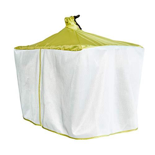 アイメディア風を通す雨よけ洗濯物カバー|雨よけカバー角ハンガー洗濯カバー雨ホコリ糞害花粉日焼け目隠し小物ポンチョメッシュはっ水