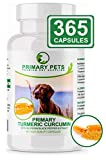 Primary Pets Turmeric for Dogs with Curcumin. 120 x 500mg Powder Capsules. Joint