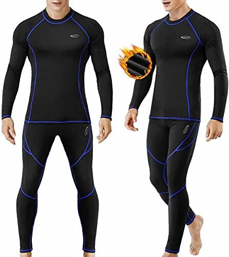 Bielizna termiczna męska, funkcjonalna bielizna narciarska bielizna termiczna zimowa bielizna termiczna ciepła miękka bielizna funkcjonalna oddychająca bielizna termiczna dla mężczyzn (L)