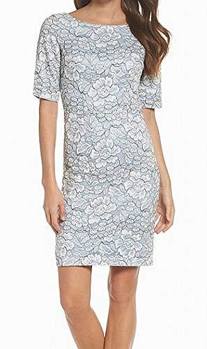 Eliza J Women's Elbow Sleeve Lace Sheath Dress (Apparel)
