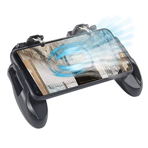 FGen PUBG Mobile Controller, Manette PUBG Mobile, Manette Smartphone, Déclenchez 4,7 à 6,5 Pouces de Téléphones Mobiles avec Ventilateur de Refroidissement, Gamepad Mobile