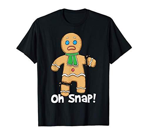 Oh Snap Gingerbread Man Disfraz de galletas de Navidad Camiseta