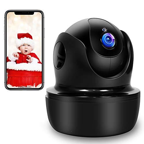 1080P Camara Vigilancia WiFi Interior, SUPEREYE Cámara IP WiFi con Visión Nocturna, Detección de Movimiento, 10s vídeo App Alerta, Audio de 2 Vías, Monitor Bebé / Anciano / Mascota, Trabajo con Alexa