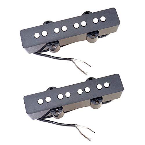 freneci 2pcs 4 Cuerdas JB Bass Pastillas de Estilo Abierto Mástil Y...