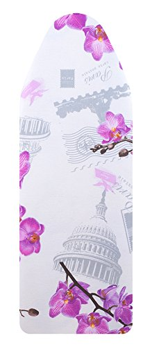 VieveMar Premium Ironing Board Cover Save 40% Ironing TIME Thick Padding with Cotton Foam and Felt Pad Easy FIT with Drawstring Heat Reflective Fits Boards 14quot x 54quot Orchid