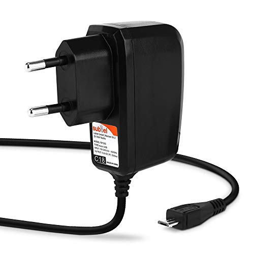 subtel® Qualitäts Ladekabel 1.1m, 1A / 1000mA kompatibel mit Olycism Mini Sport, 5V Micro USB Ladegerät Netzteil Charger schwarz