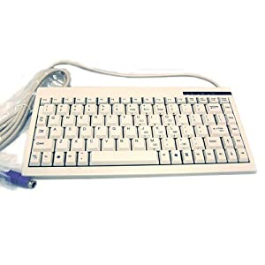 ACK-595 PS/2 Mini Keyboard for Windows (White)
