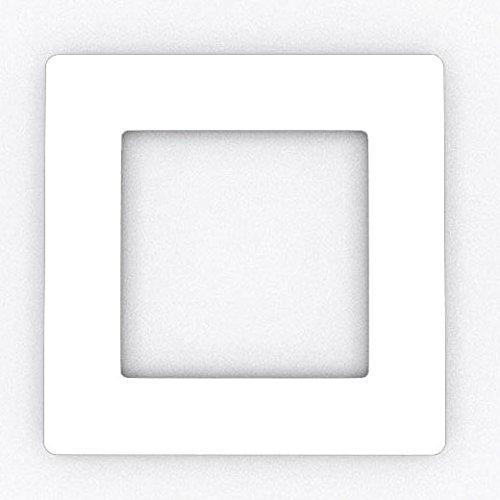 Focus Plastics SINGLE LIGHT SWITCH SOCKET COLOURED ACRYLIC SURROUND FINGER PLATE - HUGE COLOUR CHOICE (White)