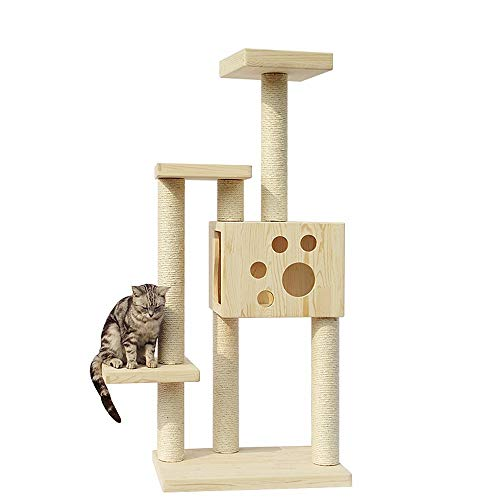 Cat Activity Trees Cat Play Tower Cat Climbing Frame Solid Wood Cat Villa Cat Litter Heavy Sisal Cat Scratching Column Cat Jumping Platform Play Toy Cat Cave Cat House