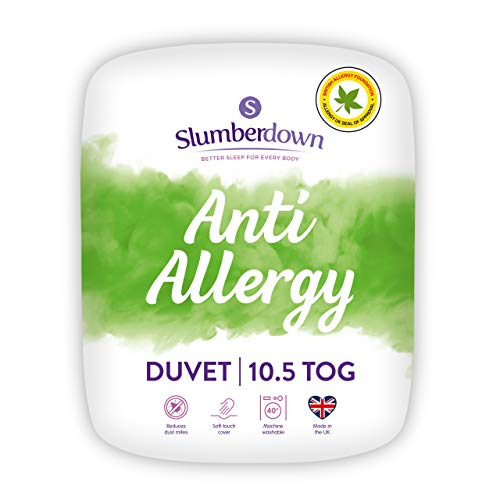 SLUMBERDOWN Anti Allergy 10.5 TOG Duvet, Double, Baumwolle/Polyester, Blanco, Doble