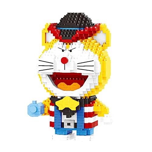 Anoauit Mini Bausteine Nette Doraemon Katze Nano Micro Blöcke 3D Puzzle DIY Spielzeug Modell Ziegel Spielzeug Geburtstagsgeschenk Geeignet für Kinder
