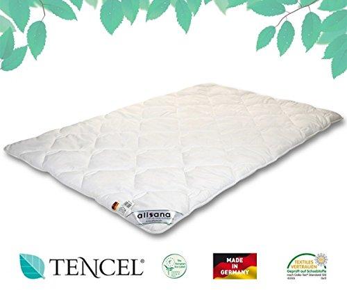 allsana Tencel® Klimafaser Duo Steppbett 240x220 cm, Lyocell Winterdecke für Allergiker, waschbar bei 60°C, Tencel Bettdecke XXL warm bei Allergie
