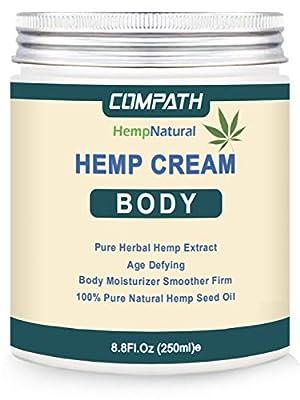 Hemp Cream | Body Cream | Body Lotion | Anti-Wrinkle & Fine Lines Body Moisturizer Lotion | Fruit Body Cream& Stretch Mark Remover Dry Skin Hydrating Legs Massage Cream