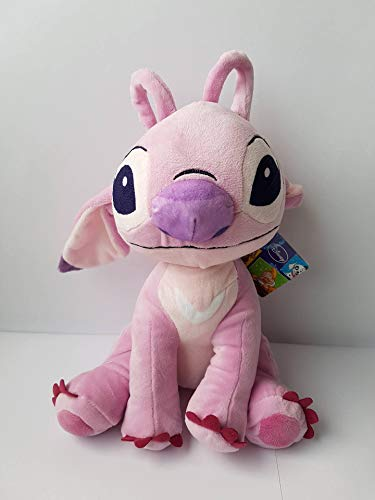 Angel Aliena Rosa Amica Stitch Peluche Gigante XXL 45cm Originale Disney Lilo Stich QUALITA' Top