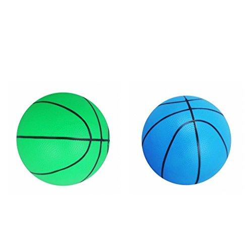 Hellery 2 Piezas de Baloncesto Inflado Ø 16 Cm para Bebé Deportes Al Aire Libre Verde Y Azul
