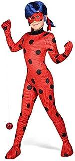 Yiija Fast Fun - Miraculous Disfraz Ladybug, 4-5 años (