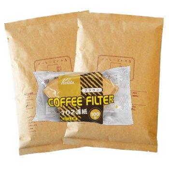 カリタ102コーヒーフィルター 2〜4人用 100枚入り アメリカン・ブレンド/浅煎り 800g 80杯〜90杯 [粗挽き] コーヒー豆/浅入り