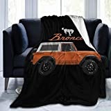 WUKON JIANZH Super-Soft Vintage 1974 Ford Bronco Micro Fleece Blanket,Suitable for Sofa Blankets for Adults and Children, Bed Blankets 50'' x40
