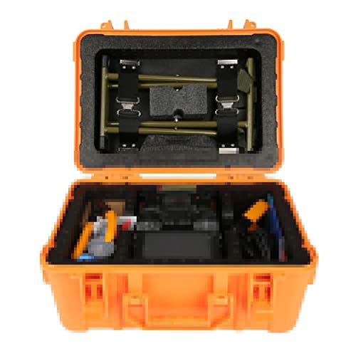 Fiber Optic Schweißgerät,A-81S Glasfaser Schweißmaschine Optische Faser Fusion Splicer Gerät,Hochpräzise Spleißgerät Schweißen Maschine mit Koffer Kit EU-Stecker(Orange)