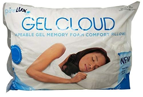 Purelux Set of 4 Gel Memory Foam Comfort Pillows
