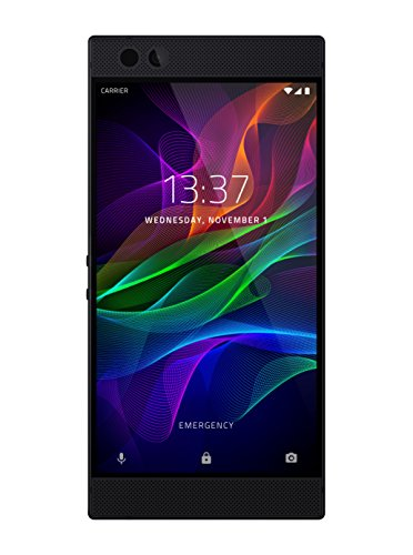 Razer Phone - 1st Generation: 120 Hz Ultra Motion Display - 64GB Memory - 8GB RAM - Dual Camera - Dual Front-Facing Speakers - Gaming Phone - Black