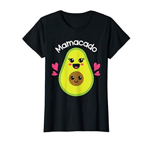 Damen Avocado schwangere Mamacado Babybauch Geschenk für Mütter T-Shirt