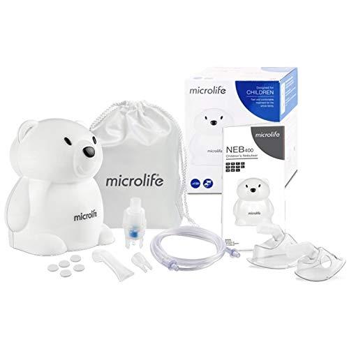 Microlife NEB400 Kompressor-Inhalationsgerät Bär für Kinder und Erwachsene Inhalator Verneber Aerosol Therapie Inhalation
