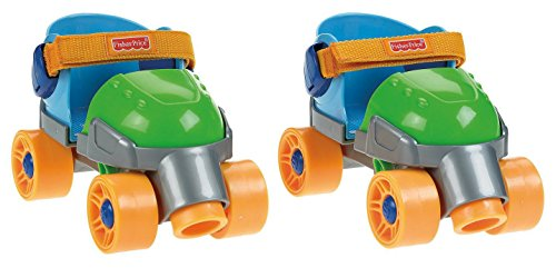 6. Fisher-Price Grow with Me 1, 2, 3 Green Roller Skates