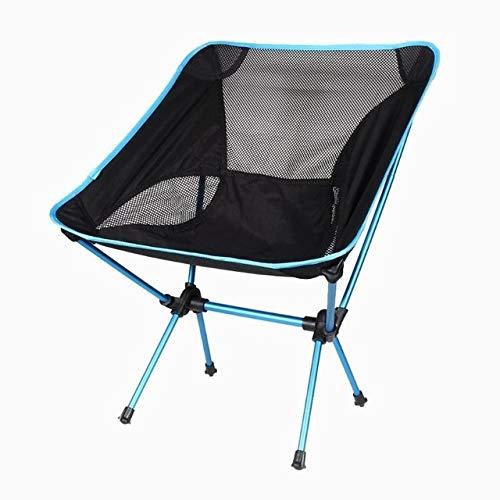 LIUYB El Asiento Portable Ligero Silla de Luna Pesca Ultralight heces al Aire Libre Que acampa yendo Presidente Barbacoa de Picnic Jardín sillas Plegables Asiento (Color : 02)