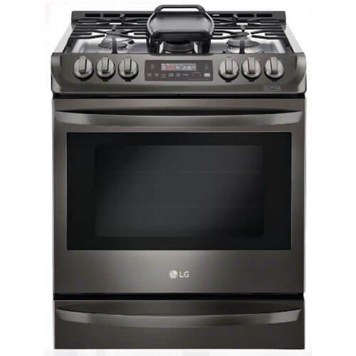 LG LSG4513BD 6.3 Cu. Ft. Black Stainless Slide-In Gas Range LSG4513BD