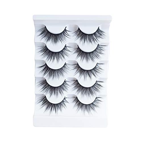 JIMIRE Natural False Eyelashes Light Volume Lashes Pack 5 Pairs