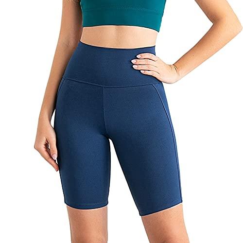 N\P Yoga Pantaloni Cinque Pantaloni Sport Yoga Suit, Zaffiro, XL