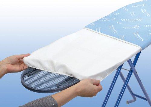 Wenko Stretch-Universeel formaat voor S tot XXL Strijkplanken, Molton-vulling, Polyester, Wit, 140 x 40 x 0,1 cm