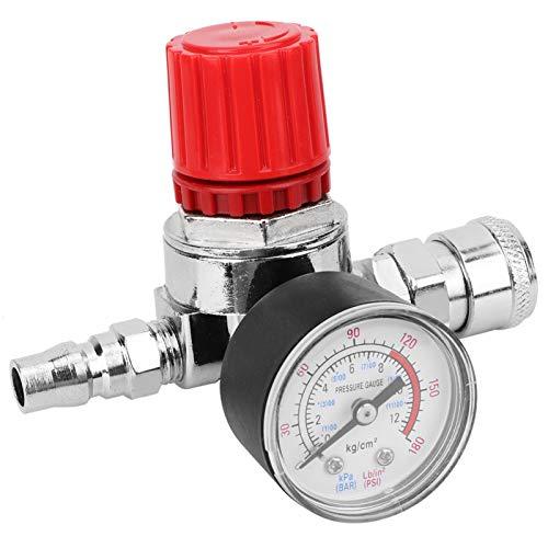LANTRO JS - Manómetro de válvula de control de interruptor regulador de presión con conector macho/hembra Accesorios de bomba de aire para compresor de aire