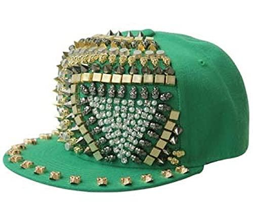 ShZyywrl Baseball Kappe Punk Hiphop Unisex Hut Gold Spikes Stachelige Nietenmütze Top Street Dancing 55-59Cm 3