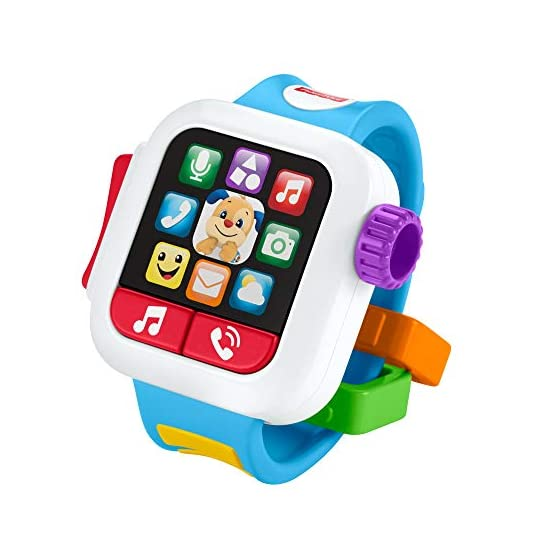 Fisher-Price GJW17 Laugh & Learn Time to Learn Smartwatch, Musical Baby Toy, Multicolor