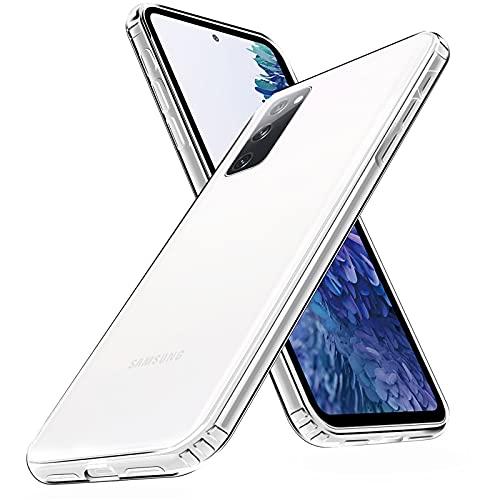 Chalpr Diamond Series Samsung S20 FE Hülle (4G/5G), Ultra Transparent Vergilbungsfrei Hard PC Back & Soft Silikon Samsung Galaxy S20 FE Handyhülle Durchsichtig Kratzfest Dünn Schutzhülle Clear Hülle