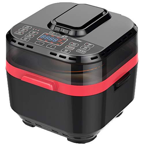 NANXCYR Olievrije halogeen-rotisserievenster van de luchtfriteuse, gezond, licht koken, 10 l l 1500 W, zwart