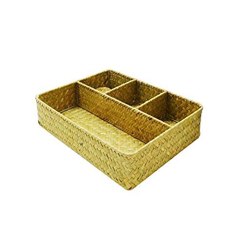COJJ Hand woven low carbon environmental protection quartile storage basket