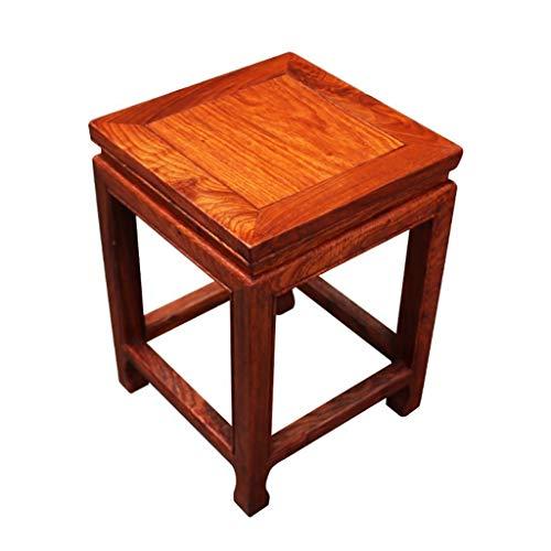 D-Z Stoel Kruk Vierkante Kruk Effen Hout Kruk Vanity Kruk Chinese Klassieke Eettafel Kruk Hout Eetstoel Mahonie Eenvoudige Kruk, kruk