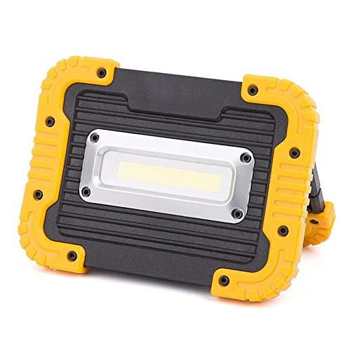 Hchao Luz de Trabajo LED Recargable portátil de 10 vatios con Soporte Giratorio de 180 °, Tiene 3 Formas de iluminación, Grado de impermeabilidad IP55, Adecuado para Barbacoa, exploración y más